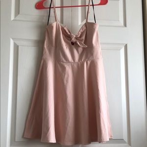 Forever 21 Pink Front Tie Dress